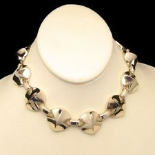 CORO PEGASUS Corolite Necklace Vintage 1950s Modernist Chunky Gold Plated