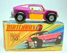 "Matchbox SF Nr.30B Beach Buggy lilametallic, kleine Auspuffrohre top in ""I"" Box"