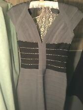 terani couture dresses Grey Bandage Dress Sexy Fitted With Beaded Detail Small