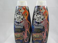 ED HARDY BLOWOUT DARK BRONZING TANNING LOTION - 2 PACK