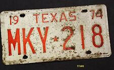TEXAS 1974 antique license plate 218