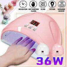 36W LED UV Nail Lamp Polish Dryer Gel Acrylic Curing Light Professional Spa Tool