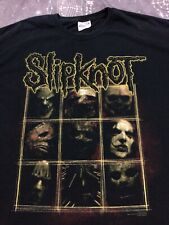 Vintage 2006 Slipknot Heavy Metal Band Black Cotton T-shirt Double Sided Hanes