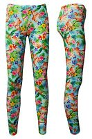 Women's Tropical Flamingo Floral Flowers Retro 50's Vintage Printed Leggings