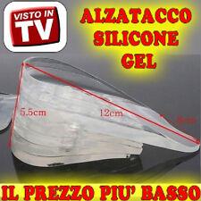 SOLETTA GEL IN PER SCARPE ALZATACCO SILICONE PLANTARE TRASPARENTE ALTEZZA rg