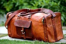 Bag Leather Duffle Men Travel Gym Genuine Luggage Overnight Vintage Hiking Bag