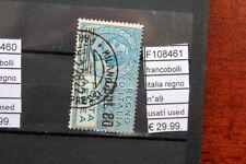 FRANCOBOLLI ITALIA REGNO N°A9 USATI STAMPS ITALY USED (F108461)