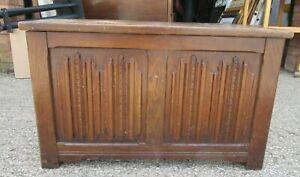Vintage Old charm Oak Blanket Chest Storage Box. Ottoman