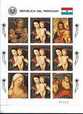 PARAGUAY 1987, CHRISTMAS, VIRGIN AND CHILD, RELIGION,  FULL SHEET