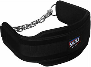 Dipping & Pull Up Weight Belt With Chain Gym Fitness back Support Bodybuilding
