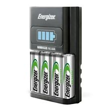 Energizer AA/AAA 1 Hour Charger with 4 AA NiMH Rechargeable Batteries (Charges A