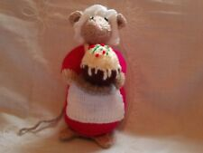 NEW  KNITTED COOK MOUSE TOY DESIGN ALAN DART