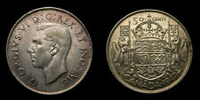 1947 Canada Silver Fifty 50 Cents King George VI EF-40