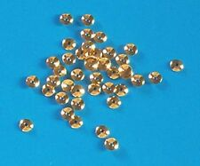 100 gold plated, 4mm diameter bead caps, findings for jewellery making crafts