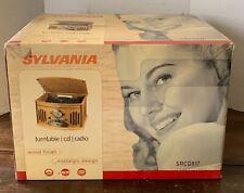 Sylvania SRCD817 AM/FM Radio CD Player Record Turntable Music Center - UNOPENED