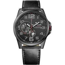 New Tommy Hilfiger Men Frederick Multi-Function Leather Watch 1791005 $165