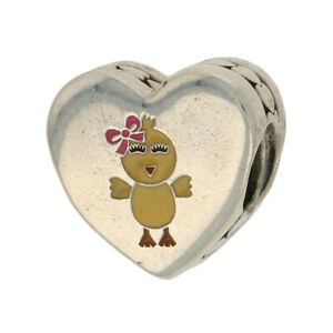 NEW Authentic Pandora You're My Favorite Chick Charm Silver Heart ENG792015_9