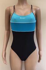 NEW Champion Black Blue Swimsuit Swimming Costume Size 12