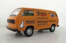 VW T3 Van Bundy Custom Graphics Applied Orange Diecast Van