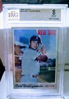 1970 Topps Carl Yastrzemski #10 **BVG 8** HOF  Red Sox
