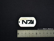 Mass Effect Necklace stainless steel N7 Dog Tag Pendant merch logo symbol