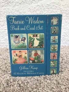 Faerie Wisdom Book & Card Set Inc 52 Magical Message Cards + Book Gillian Kemp