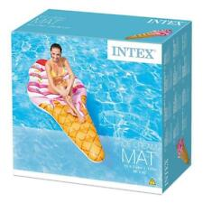 """INTEX ICE CREAM MAT INFLATABLE 88"""" GIANT POOL LOUNGER FLOAT LILO"""