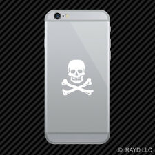 (2x) Skull and Bones Cell Phone Sticker Mobile many colors