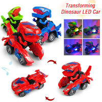 Transforming Dinosaur LED Car T-Rex Toys With Light Sound Kids Electric toy