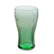 Coca-Cola Glass Vintage Drinking Glasses Tumbler Clear Green