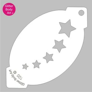 Falling Stars Face Paint Stencil 100-Star Face Painting Template kids