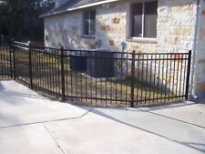 180 LINEAR FEET of 4' HIGH x 6' WIDE GEORGIA STYLE ALUMINUM FENCE w/POSTS & CAPS