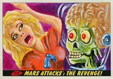 Mars Attacks The Revenge Panoramic Sketch Card By Chad Scheres