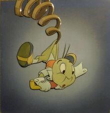 Disney Pinocchio 1940 Jiminy Cricket Courvoisier Original production cel hand
