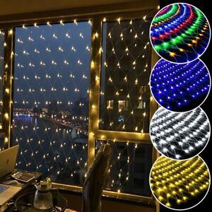 LED Lichternetz Lichtervorhang 8 Modi Weihnachten Party Lichterkette Wasserdicht