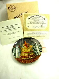 """Melanie"" Raymond Kursar Gone With The Wind Knowles Porcelain Plate 1981 Mint"