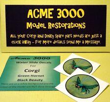 Corgi Green Hornet 268 REPRO ricambio moderno TETTO Scivolo trasferimento decalcomania.