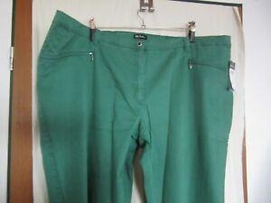 ULLA POPKEN Mony Hose Jeans stretch GR  58 / 60 grün Neu