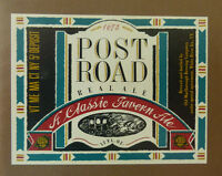 VINTAGE AMERICAN BEER LABEL - MARLBOROUGH BREWERY, POST ROAD TAVERN ALE 12 FL OZ
