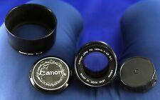Canon FD 135 mm 1:3 .5 objetivamente S.C.