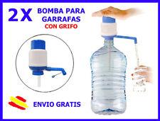 2X BOMBA MANUAL para Garrafas de Agua CON GRIFO Dispensador (2 UNIDADES) garrafa