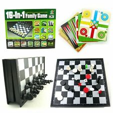 16 IN 1 FAMILY PARTY BOARD TRAVEL GAME KIDS CHILD ADULT LEARNING EDUCATIONAL TOY