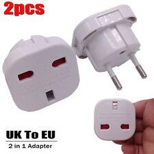 UK To EU Euro Europe European Travel Adaptor Plug 2 Pin Adapter *CE Approved*