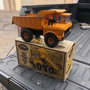 1970 Vintage Orange Mighty Tonka Hydraulic Dump Truck 3902 with original box