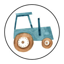 """30 1.5"""" FARM TRACTOR BIRTHDAY BABY SHOWER FAVOR LABELS ROUND STICKERS***"""