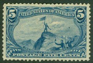 EDW1949SELL : USA 1898 Scott #288 Extra Fine, Mint OG HR. Thins. Catalog $100.00