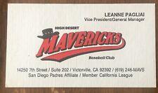 Defunct High Desert Mavericks  ⚾️ Business Card ⚾️