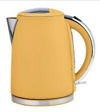 New 1.7L Electric Yellow colour Cordless Kettle Kitchen Steel Fast Boil Water UK