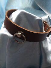 Handmade English Leather Collar Padlocking Buckle Any colour ..Bondage fetish