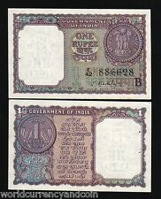 INDIA 1 RUPEE P76 C 1965 COIN *B UNC WORLD SB PAPER MONEY BILL INDIAN BANK NOTE
